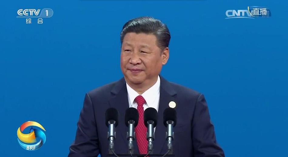 """""""一带一路""""国际合作高峰论坛开幕式:中国国家主席习近平发表主旨演讲"""
